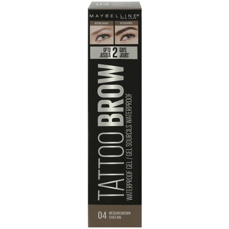 Maybelline Tatto Brow Waterproof Gel 04 Medium Brown