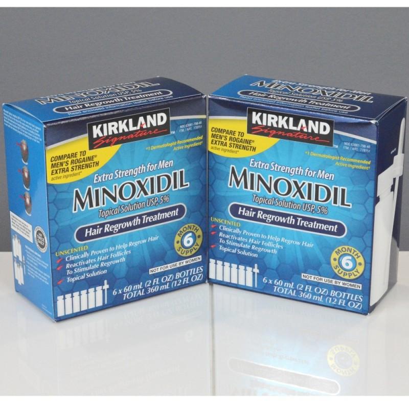 Solutie Cutanata Minoxidil 5% Kirkland Tratament Alopecie Barbati Pachet 12 luni